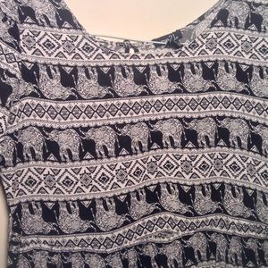 Rue 21 black white elephant dress